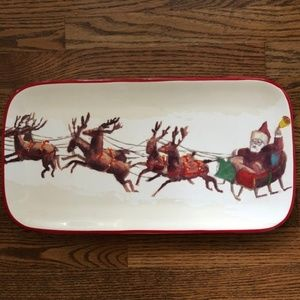 Williams Sonoma Platter Santa & His Reinde…